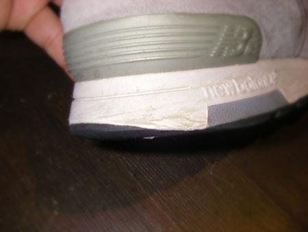 徳島県阿南市 靴修理&靴磨き専門店 シューズマイスター スニーカー カカトゴム修理 ニューバランス メンズ