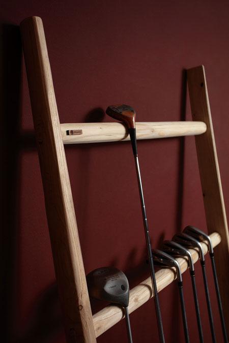 Scala a pioli di ellecuorea per idee di arredamento - Wood ladder for home decor with golf set of iron