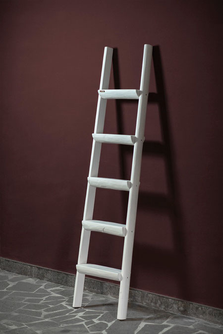 Scala a pioli artigianale con ripiani - Wood ladder with shelves for home decor