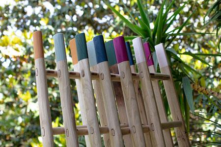Scale a pioli in legno colorate per arredamento - Wood ladders for decorative home by ellecuorea