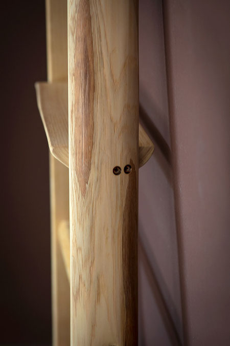 Scala a pioli con mensole di ellecuorea - Wood ladder for bath decor by ellecuorea