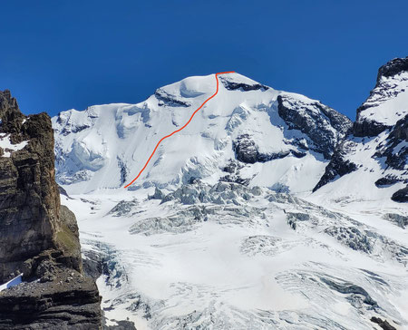 Breithorn Triftjigrat, Hochtouren, Nordwand, Wallis, Bergsteigen, Zermatt, Gandegg
