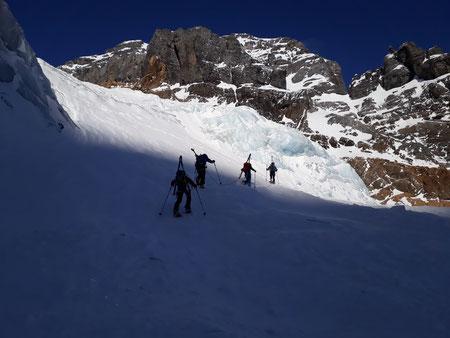 Skitour, Tödi, Tagestour, Tödi an einem Tag, Tierfehd, zweiter Gletscherbruch
