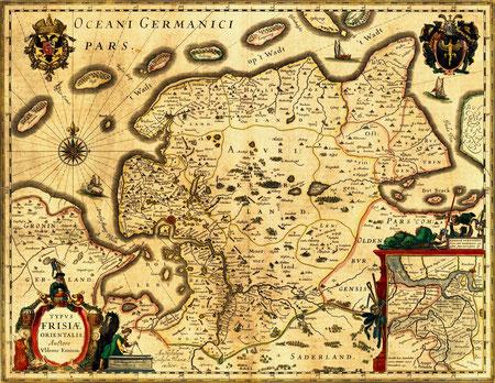 Historische Landkarte Ostfrieslands