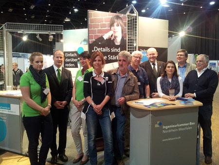 Das Team am Gemeinschaftsstand der Freien Berufe NRW
