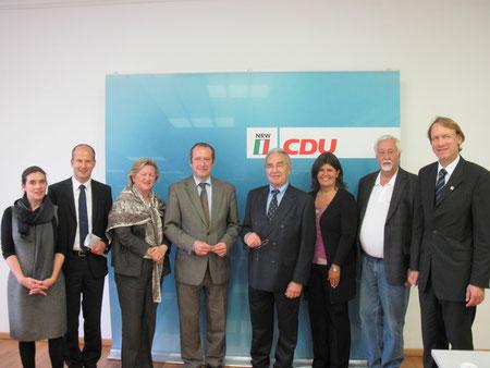 Von links nach rechts: K. Kosub, A. Busshuven, Dr. Chr. Friedländer, O. Wittke, H. Klein, R. Gazez-Rick, Dr. R. Holzborn, T. Preis