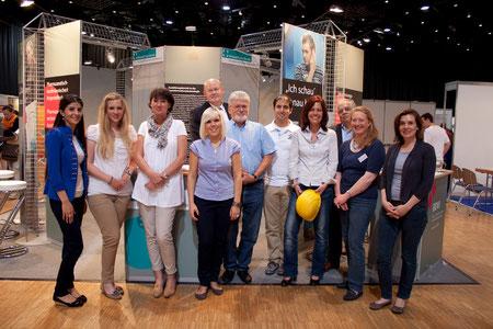 Das Messeteam am Gemeinschaftsstand der Freien Berufe NRW