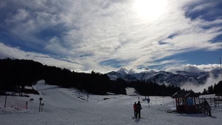 Ski de fond, raquettes, chiens de traineau au plateau de Beilles en Ariège