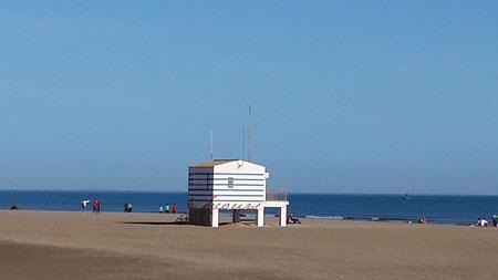 Gruissan et la plage des chalets