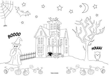Colorier une maison hantée pour Halloween