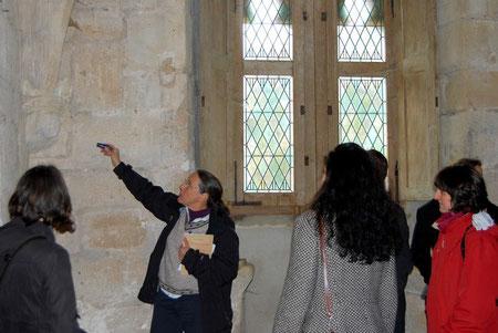 Ingrid au château d'Arques (Aude)