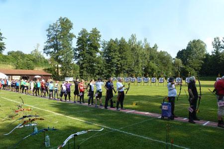 Bogenschuetzen auf der Württembergischen Landesmeisterschaft 2018 in Welzheim