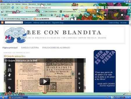 """Blog """"LEE CON BLANDITA"""""""