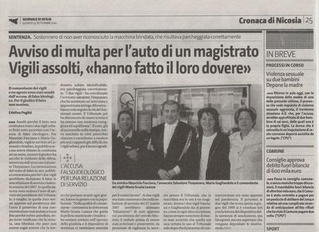 Giornale di Sicilia, giovedì 23 settembre 2010