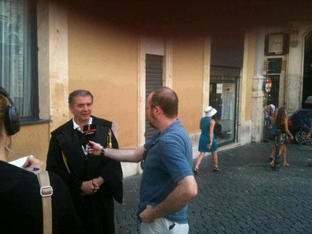 Interviste durante il SIT IN - ROMA 25 LUGLIO 2012 -
