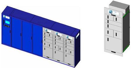 Das Bild zeigt eine technsiche Skizze der BentoBox mit Trolley