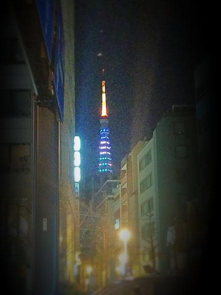 クリスマスイブの東京タワー