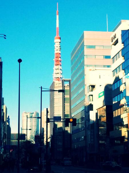 年末の東京タワー