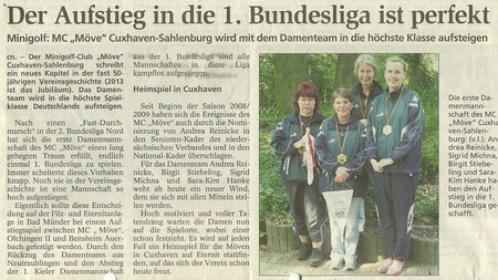 Artikel aus den Cuxhavener Nachrichten vom 11.06.2008