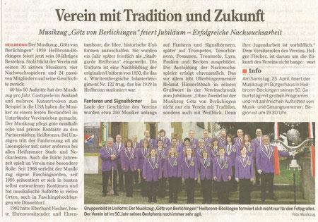 Pressebericht zum Jubiläum April 2009