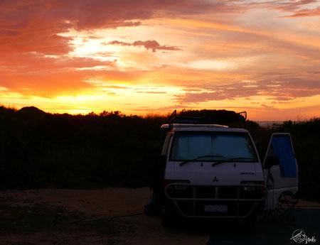 Einer der letzten Sonnenuntergänge in Lancelin