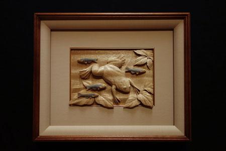 木彫り ユリ