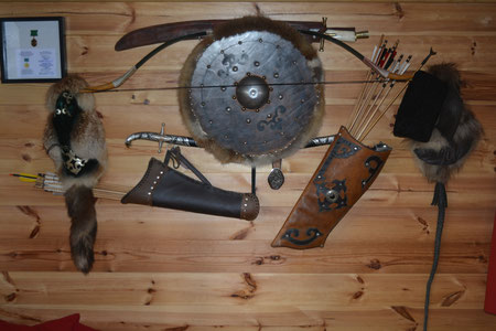 archerie arc composite bashkir culture bushcraft flèches carquois chevalier batir batyr