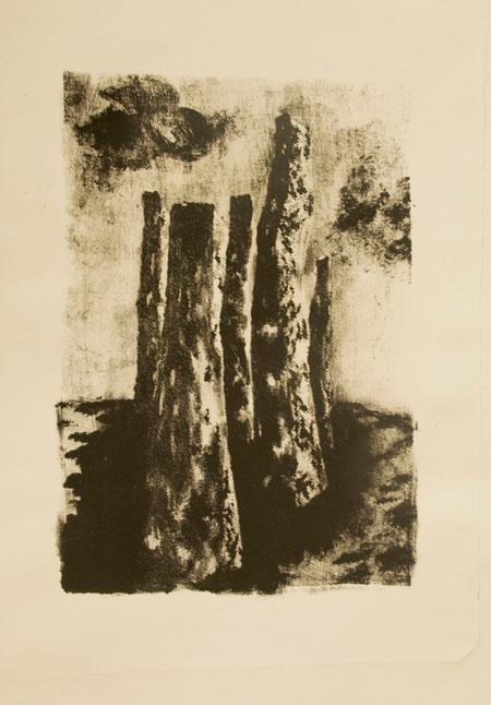 Reserva y aguada litográfica