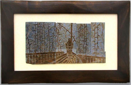 grabado en pizarra, talla en piedra