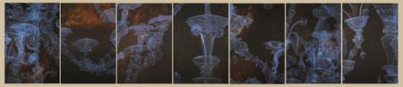 settimino / 2012 / oil on canvas / 252 x 52 cm