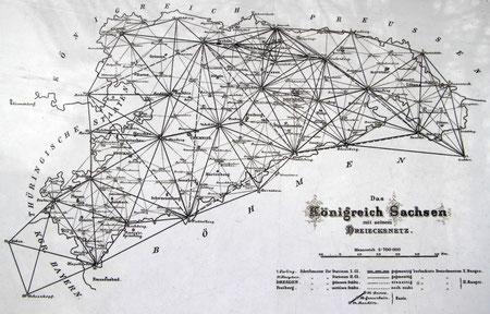 Das Königreich Sachsen mit seinem Dreiecksnetz