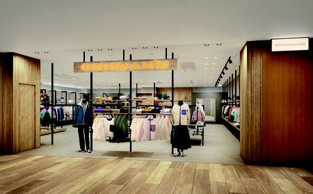 """「オッシュマンズ銀座店」は東京の中心地""""銀座""""から都会的で魅力的なセレクト型スポーツショップを提案する。"""