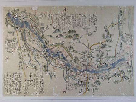 物部川絵図(安芸歴民館所蔵)