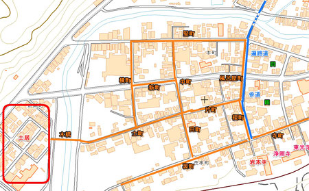 窪川土居図の町筋名をゼンリン社地図へ
