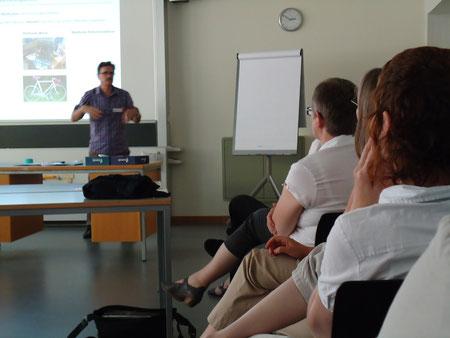 Martin Ludwig am Workshop für BerufsschulmediothekarInnen