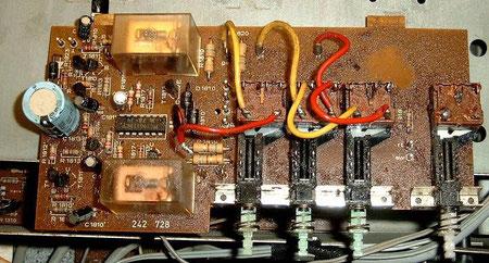 Platine DUAL CV 1600 Netzschalter Lautsprecherschalter