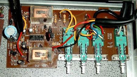 Platine DUAL CV 1600 Netzschalter Lautsprecherschalter revitalisiert