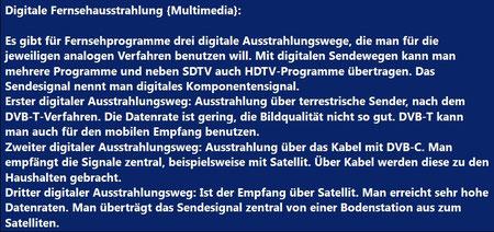 Digitale Fernsehausstrahlung