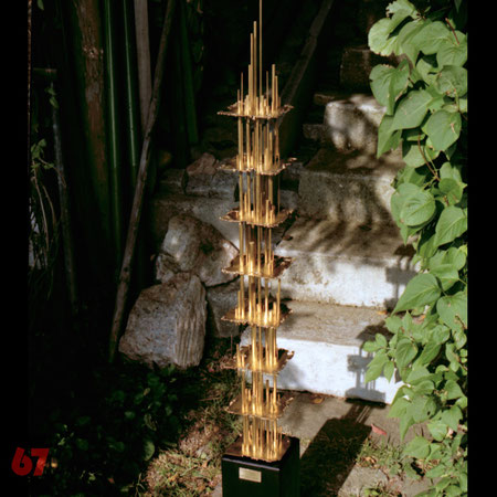 Metal sculpture artwork Skulptur Kunstwerk Isomorphe Struktur by Jürgen Klöck