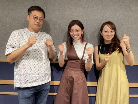 清川忠康さん、ぱんちゃん璃奈、松原江里佳さん