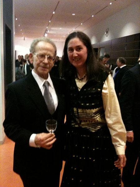 Mit  meinem Ivrit-Lehrer, my Ivrit-teacher, 07.02.2010. Foto: MK.