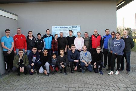 Die erfolgreichen Lehrgangsteilnehmer mit KSO-Vorsitzendem Reinhold Lange und Stellvertreter Reinhold John.