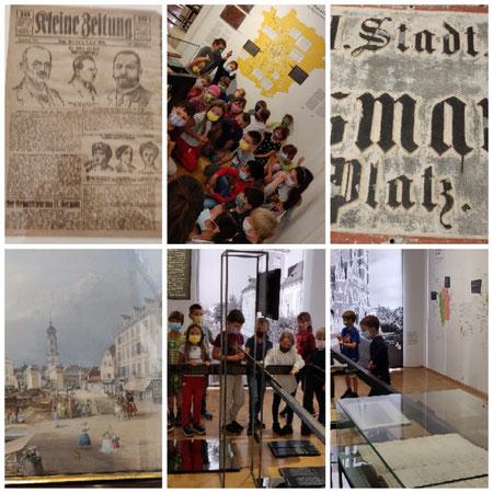 """Ausflug ins Museum """"Graz vor vielen Jahren """","""
