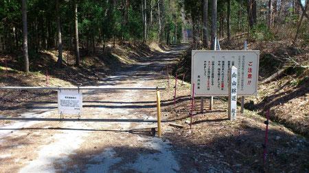 向山林道入口