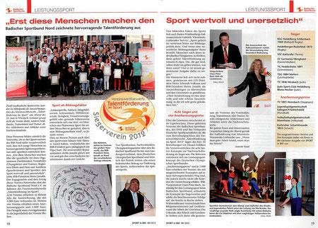 """Erschienen in der Ausgabe August 2012 von """"Sport in BW"""""""