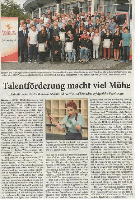 Erschienen am 28.06.2012 in der Rhein-Neckar-Zeitung