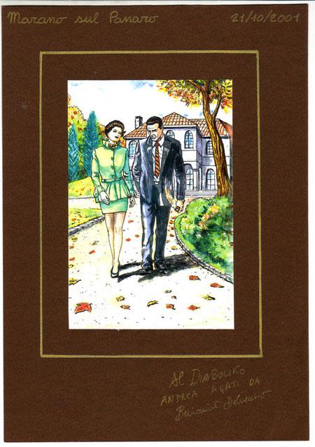 21.10.2001 disegno regalato a tutti i soci per il pranzo del Diabolik Club dell'ootobre 2001