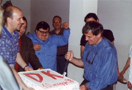 Giorgio Montorio taglia la sua prima torta Diabolika...la prima di una lunga serie!