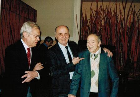 Enzo Facciolo tra altri due mostri sacri delle tavole diabolike: Franco Paludetti e Glauco cortetti