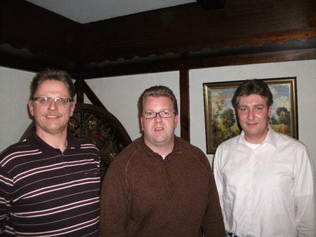 Der Vorstand des CDU-Gemeindeverbandes Hesel: Gregor Thier (Schriftführer), Norbert Kurnitzki (Vorsitzender), Lars Dominik (stellv. Vorsitzender)